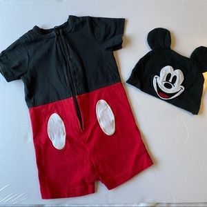 Disney Mickey Mouse romper with hat